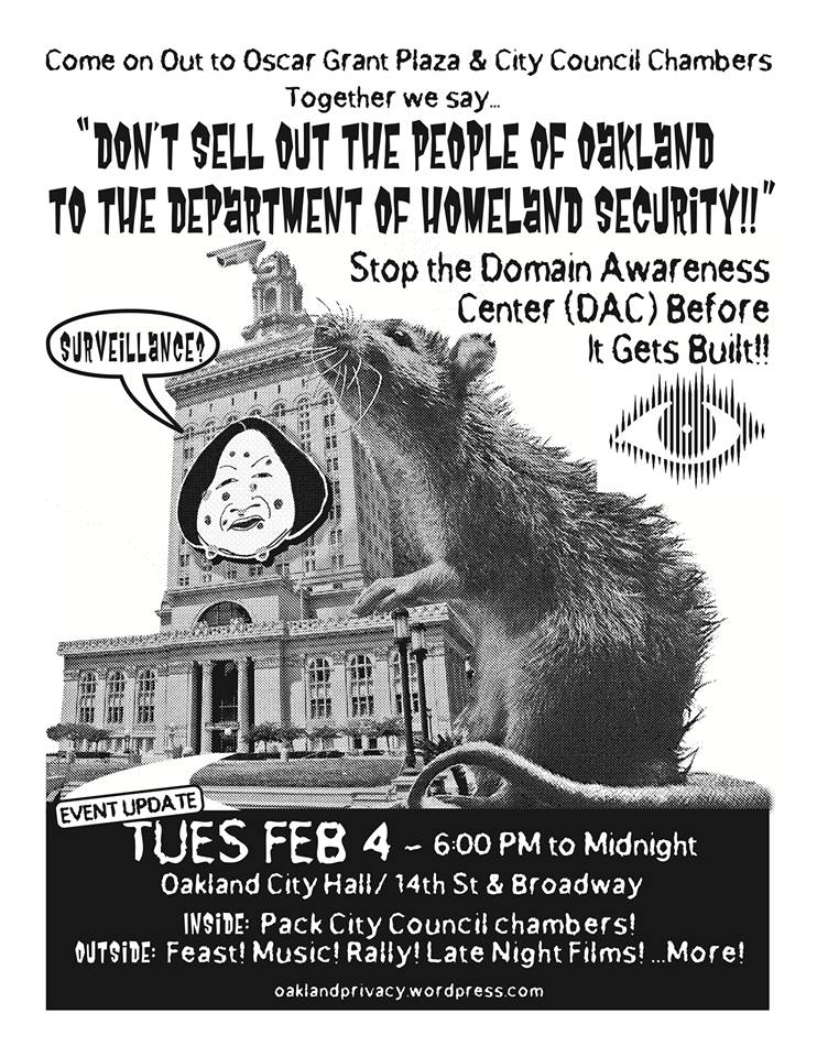 Stop The DAC! Party at Oscar Grant Plaza Feb 4th